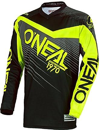0008-203 - Oneal Element 2018 Racewear Motocross Jersey M Negro Hi-Viz