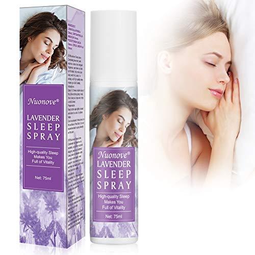 Sleep Spray, Lavender Sleep Spray, Pillow Spray, Lavender Aromatherapy Mist, Spray with Lavender for Face, Body, Pillow, Rooms, Improve Sleep Quality 75ml