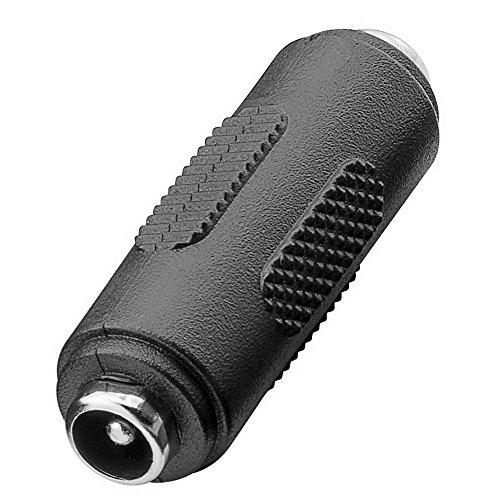 2x erenLINE® DC - Verbinder, Adapter weiblich 2,1 x 5,5 mm; DC-Buchse 2,1 x 5,5 mm auf DC-Buchse 2,1 x 5,5 mm; Macht aus einem DC Stecker eine Buchse oder zum Verbinden von Netzteilkabeln