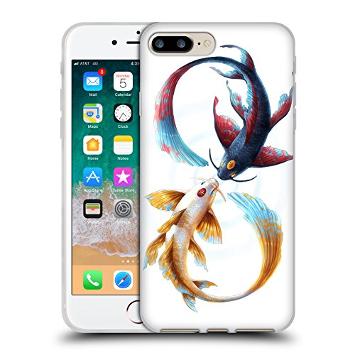 Head Case Designs Ufficiale Jonas JoJoesArt Jödicke Koi Legame Eterno Animali Selvatici Cover in Morbido Gel Compatibile con Apple iPhone 7 Plus/iPhone 8 Plus