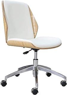 Las sillas de escritorio Muebles Silla de oficina de cuero sin brazos silla de la computadora de elevación sillas giratorias silla de oficina en casa moderador de la reunión (Color: Negro, Tamaño: 54c