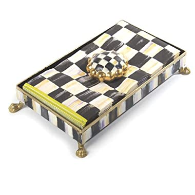 MacKenzie-Childs (p)guest Napkin Holder Set - Courtly Check