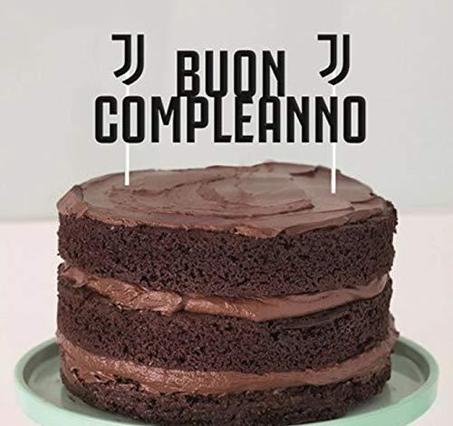 decorazioni natalizie x torte ILS I LOVE SHOPPING Decorazione per Torta Compleanno Juve (Juventus