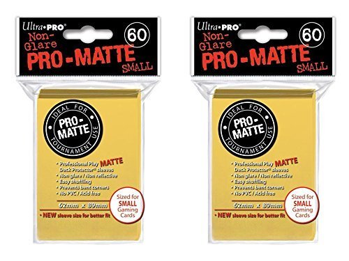 Ultra Pro Yellow Small Pro-Matte Deck Protectors Sleeves Colors Yugioh Vanguard [2 Pack of 60] Unknown