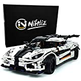 Nifeliz Racing Car Keenigseg One MOC Building Blocks and Engineering Toy, Adult Collectible Model Cars Set to Build, 1:9 Scale Race Car Model (3063 Pcs)