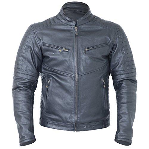 RST Interstate IV Leather Vintage Style Motorcycle/Motorbike Jacket - Black 2XL