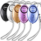 Emergency Personal Alarm,140 db Safesound Alert Alarm Keychain,Self-Defense Safety Sound Alarm with LED