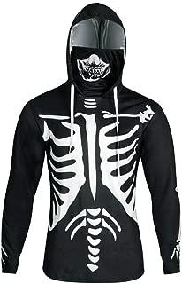 Misaky Men's Hoodies Halloween Costumes Cosplay Pumpkin Print Slim Masks Long Sleeve Hooded Pullover Sweatshirts Tops