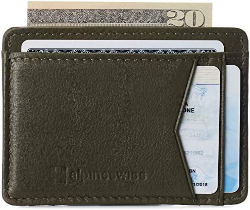 Alpine Swiss RFID Minimalist Oliver Front Pocket Wallet For Men Leather York Collection Soft product image