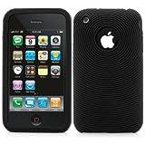 Xaiox Coque de protection en silicone pour iPhone 3G/3GS - Silikon schwarz
