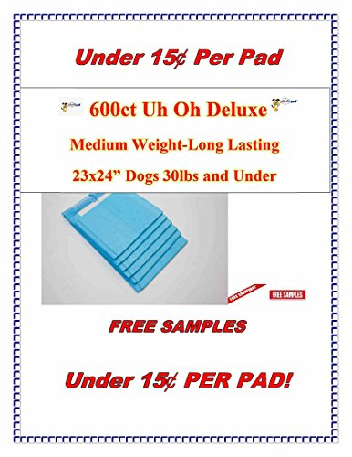 Deluxe Puppy Wee or Pee Training Pad | Disposable Pee Pads for pet or Doggie | 400 Count | 17x24