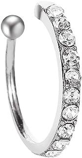 Crystal Clip Earrings For Women girl Zircon Earing Without Hole Jewelry Fake Earrings Single Ear Bone Clip Minority Design...