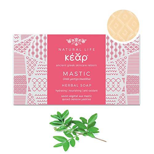 Savon Végétale au Mastic KEAR, Hydratant, Nourrissant, Nettoyant en Profondeur, Savon Solide de Beauté aux Herbes, 100g Barre