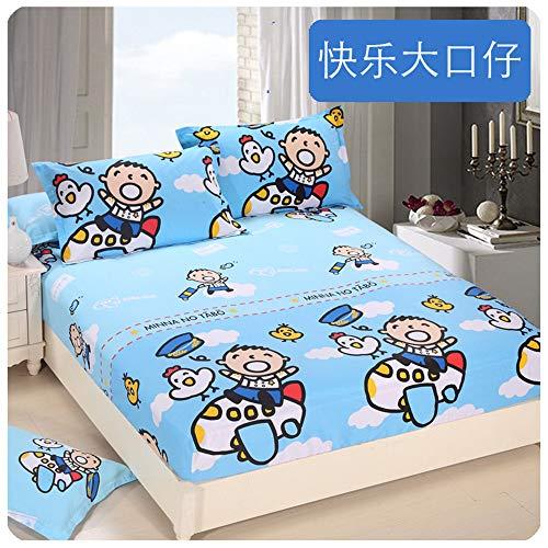 huyiming Coton Monobloc Enfants de Bande dessinée 1.2m Anti-dérapant lit Couverture de Trampoline en Coton 1,5 m 1.8 Mince Couverture de Protection de Tapis 90X190 + 15