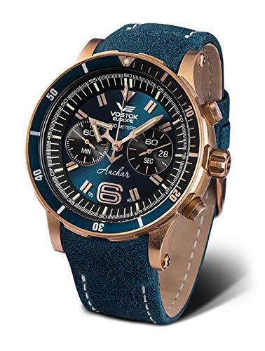 Vostok Europe Anchar Chronograph Herrenuhr Bronze mit Wechselband 6S21-510O586