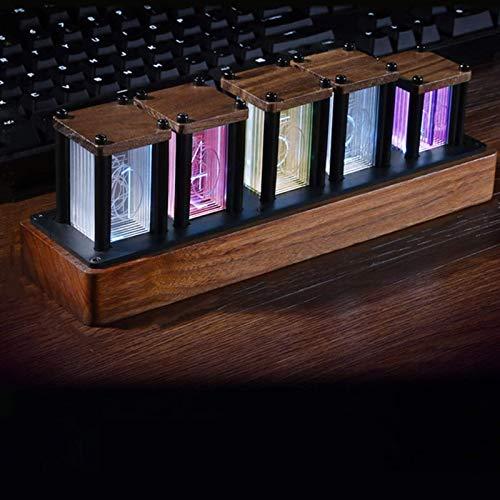 Corlidea LED Nixie - Reloj de pulsera LED con diseño magnético, digital, 10.000 colores ajustables, reloj retro vintage, USB tipo C, regalo para niños, hombres y mujeres (A)