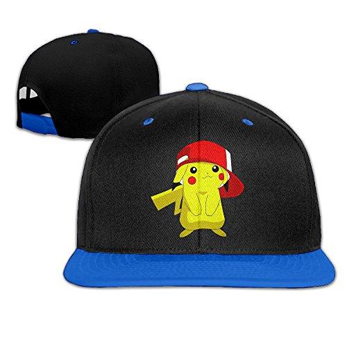 Hittings Fashion Pokemon Hip Hop Pikachu Hip Hop Contrast Color Baseball Cap Hat Royalblue