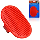 DOG PET RUBBER GROOMING BRUSH PAD GLOSSY COAT IDEAL FOR ANY DOG CAT Fusion(TM)