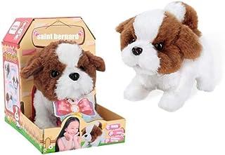 AM ANNA Electronic Puppy Interactive Plush Dog Walking and Barking pet Toy(Saint Bernard Dog)
