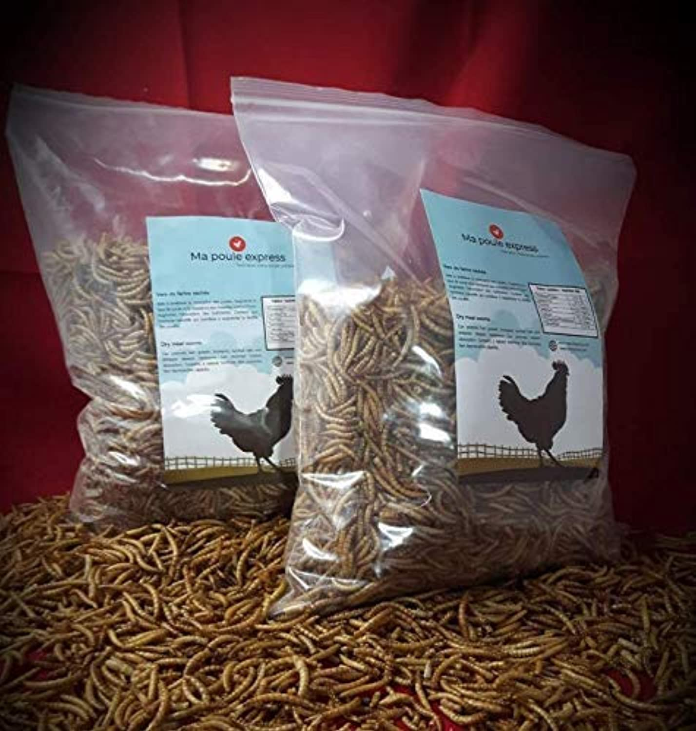 Natural Dried mealworms  High in Predein  Low Humidity (5 pounds)