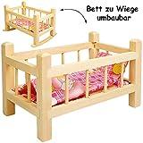 alles-meine.de GmbH 2 in 1: Puppenbett & Puppenwiege - aus