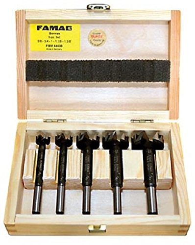 Famag Classic WS 1630.515 15-Piece Super Forstner Drill Bit Set with Diameter 10.12,15,16,18,20,22,25,26,28,30,35,40,45,50mm in Wooden Box