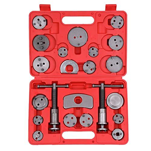 KKmoon 22 stücke Auto universal Werkzeugkoffer Werkzeugkasten scheibenbremssattel Auto Wind zurück pad kolben Kompressor Automobil Garage Repair Tool kit Set