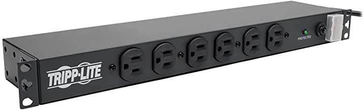 Tripp Lite 14 Outlet Network-Grade Rackmount PDU, 15A Surge Protected Power Strip, 15ft Cord with 5-15P, (DRS-1215)