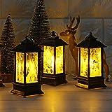 一一 Decoración de Navidad, vela de Navidad LED luz de té para decoración de Navidad, decoraciones de Navidad, adornos de luz, manualidades, decoración del hogar colgante colgante