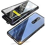Kompatibel für Xiaomi Mi 9T Hülle, 360 Grad Vorne & Hinten Gehärtetes Glas Transparente Hülle Cover, Stark Magnetische Adsorption Metallrahmen Handyhülle Hülle