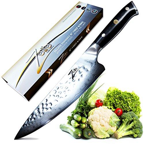 Zelite Infinity, Cuchillo Chef 20 cm- Serie Alpha-Royal, Utensilios Cocina Edición Executive...