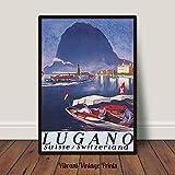 Lugano Schweiz Druck Schweiz Reise-Poster See Lugano Druck