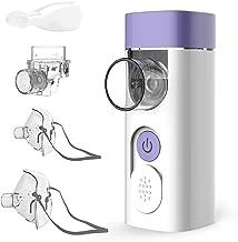 HYLOGY Nebulizador Inhalador Portátil, Recargable USB Kit Ultrasónico Nebulizador con Boquilla y Máscara para Adultos y Niños