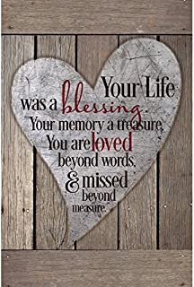 Dexsa Your Life was A Blessing.New Horizons Wood Plaque