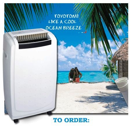 Toyotomi TAD-T40LW 14000 BTU Portable Air Conditioner with...