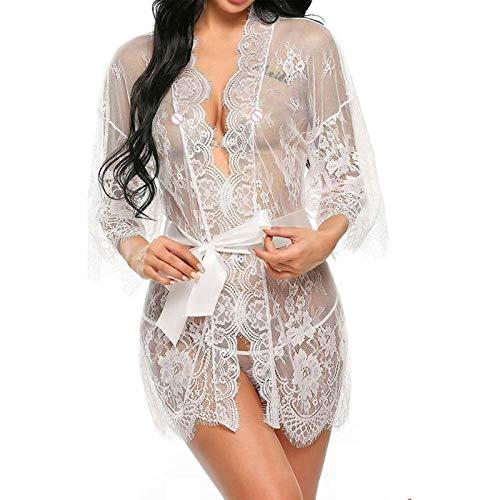 Pijamas para Mujer Lingerie Sexy Da Notte In Pizzo Da Notte Da...