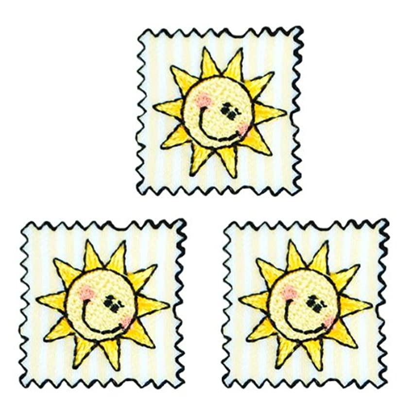 Expo Iron-on Embroidered Applique Patches, BaZooples Sun Patch, 3-Pack