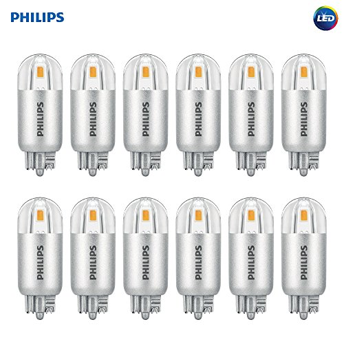 Philips LED 463448 7 Watt Equivalent Soft T5 Wedge Capsule, 12 Pack, 7W, Bright White, 12 Count