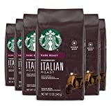 Starbucks Dark Roast Whole Bean Coffee — Italian Roast — 100% Arabica — 6 bags (12 oz. each)