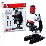 Microscope pour enfants, 100x 400x 1200x ensemble de microscope, kit éducatif de microscope / jouets de science pour l'éducation précoce adapte aux enfants ou aux enfants Jouets scientifiques pour enf