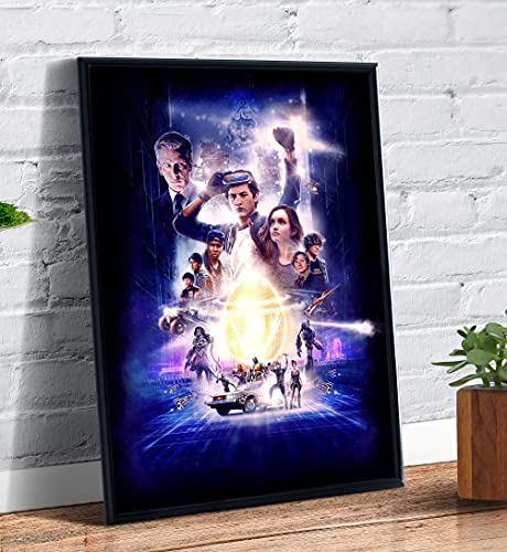 Quadro decorativo emoldurado Filme Famoso Jogador Numero 1 Capa