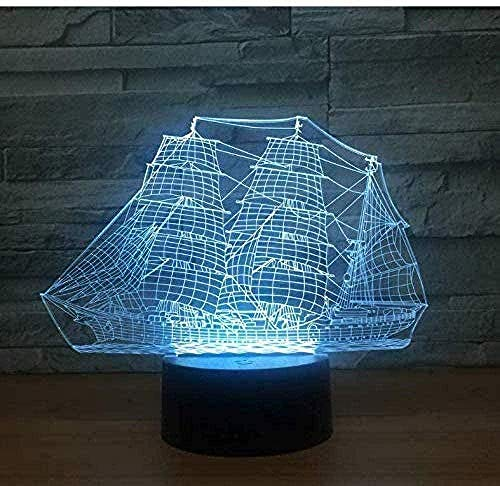 Boutiquespace Fitness3D Optical Illusion Lamp for Children Gifts Toys Decor with 7 RGB Colors Bedside Lamp Touch Adjustable Brightness Birthday Gift Decoration for Baby Boy Girl Kids