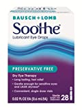 Bausch & Lomb Soothe Lubricant Eye Drops, 28-Count Single Use...