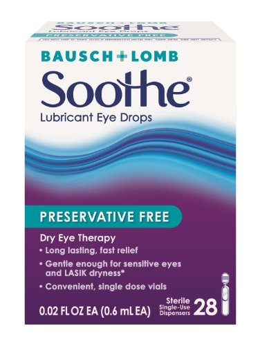 Bausch & Lomb Soothe Lubricant Eye Drops, 28-Count Single Use Dispensers (Pack of 2)