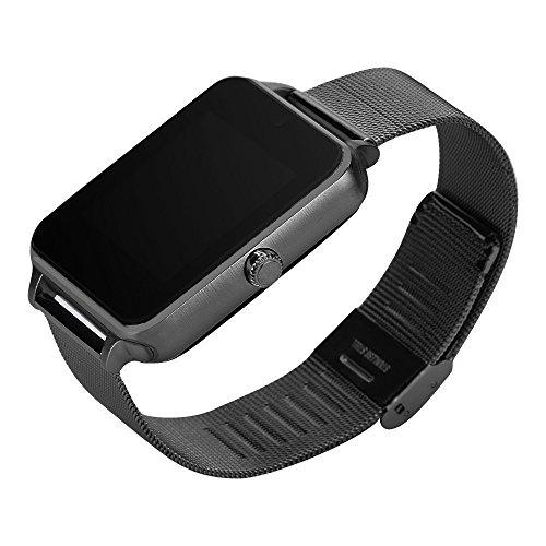 VJGOAL Damen Herren Unisex Mode Intelligente Uhr Platz Einfach Smart Watch Telefon Schrittzähler Bewegungsmelder Remind Sleep Monitor Remote Camera … (Schwarz)