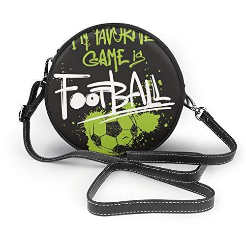 Umhängetaschen Runde Damentaschen Bar Football Crossbody Leder Circle Bag