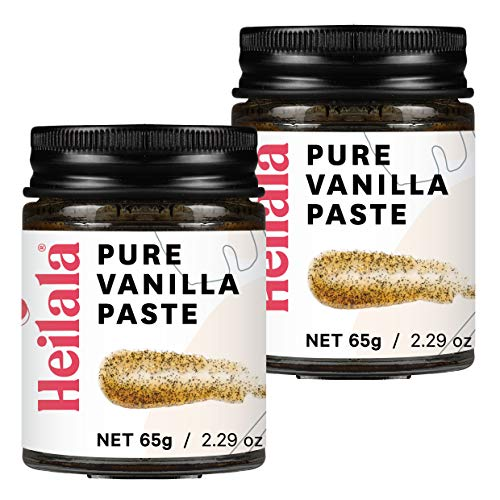 Vanilla Bean Paste for Baking - Heilala Vanilla, the Choice of the Worlds Best Chefs & Bakers, Using Sustainable, Ethically Sourced Vanilla, Hand-Selected from Polynesia, 2 Pack