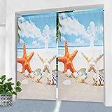 Pro Space Vorhang für den Innen- und Außenbereich – 127 x 213,4 cm Seestern Bedruckt, wasserdicht, für Pergola, Veranda oder Balkon
