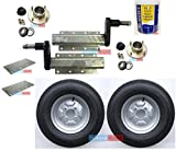 leisure MART 750kg Avonride trailer suspension units supplied with 4 inch PCD hubs, 10 inch 6PR wheels, plates and grease (Set 10) Pt no. LMX1904
