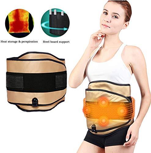 ZXL Elektrische Vibration Saunagürtel Abnehmen Massagegürtel Warm Uterus Taillengürtel Vier Massagemotoren Warm Uterus und Magen, Linderung von Dysmenorrhoe